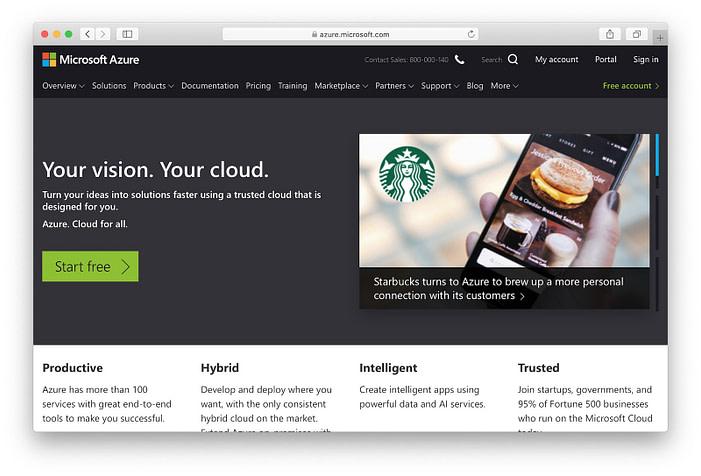 Microsoft Azure: hosting free